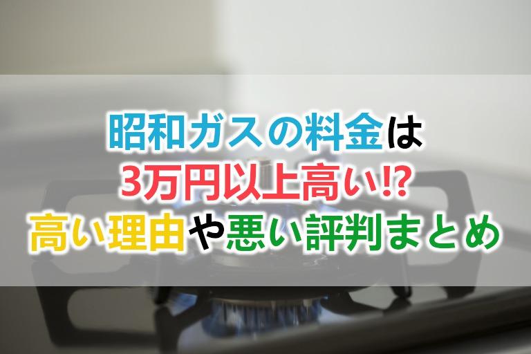 昭和ガスの料金