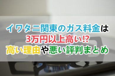 イワタニ関東のガス料金は高い
