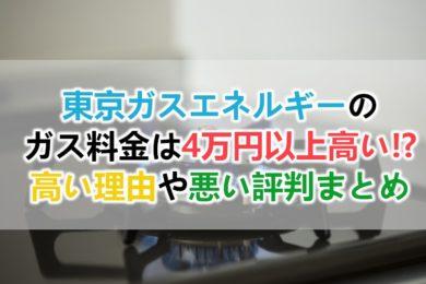 東京ガスエネルギーのガス料金