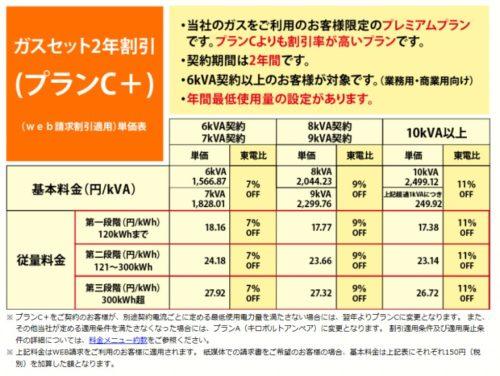 ガスセット2年割引(プランC+)