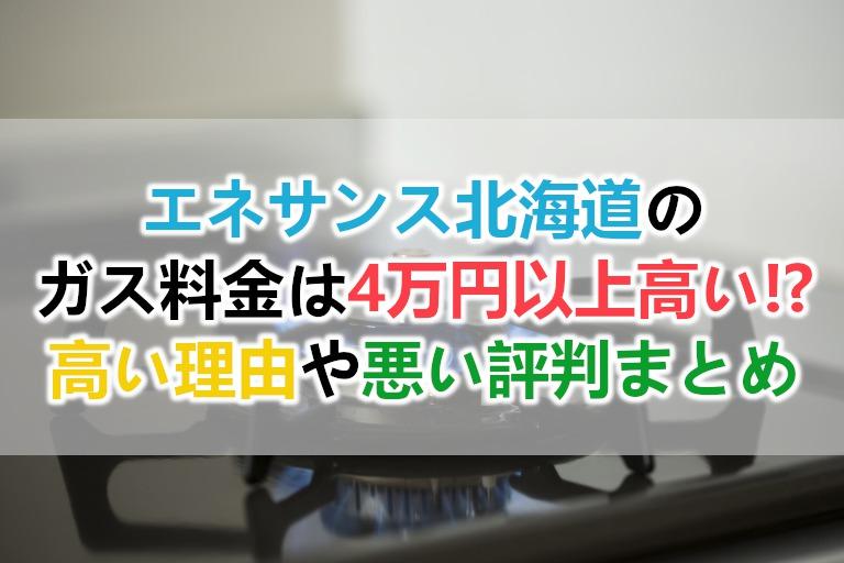 エネサンス北海道のガス料金は高い